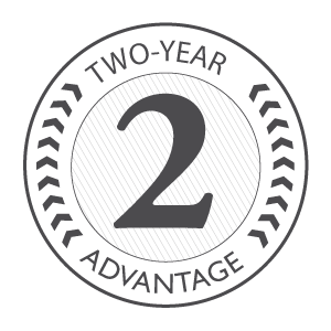 Two-year advantage badge