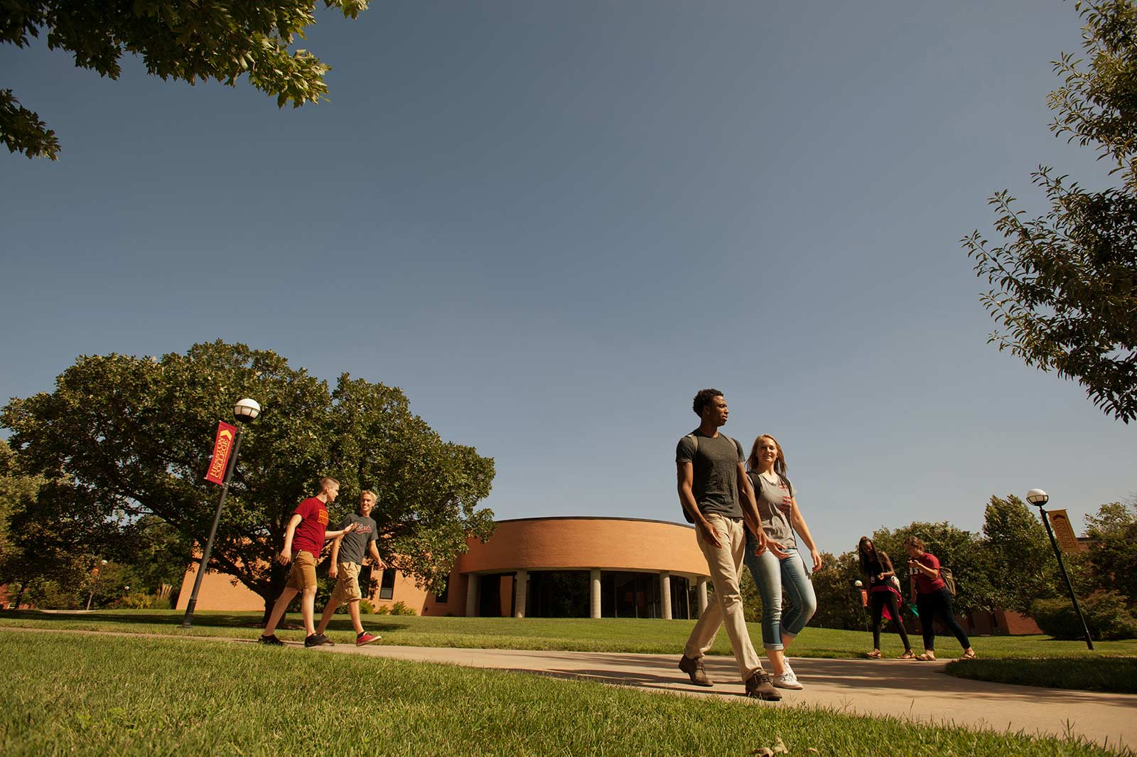Hesston College campus and students