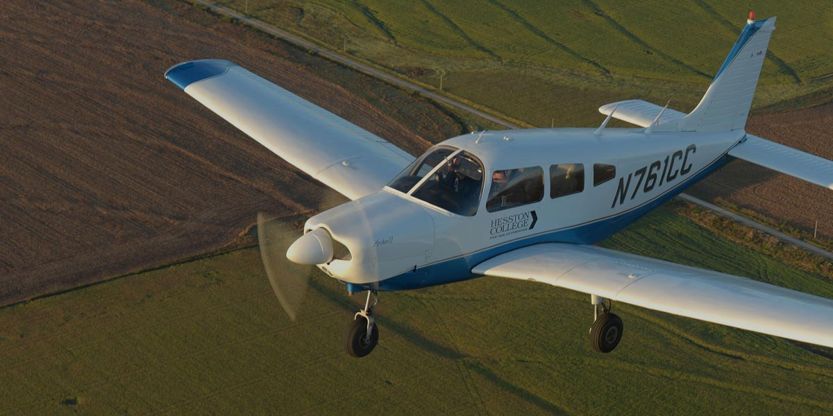Archer training plane in mid-flight