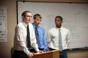 HHesston College Business students ran a three-on-three dunkball tournament as their entrepreneurship project.