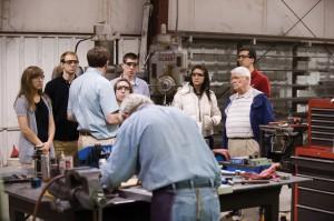 Hesston College Business class field trip to Harper (Kan.) Industries