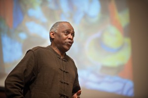 """Tony Brown sings at a Hesston College """"Common Threads"""" program"""