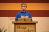 2010 Hesston College Commencement sophomore speaker Travis Duerksen, Canton, Kan.
