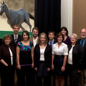 Hesston students, faculty and staff at the MEDA convention
