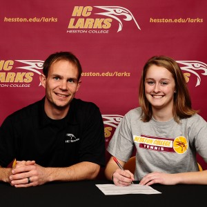 Emma Payne signs a tennis letter of intent with Hesston College