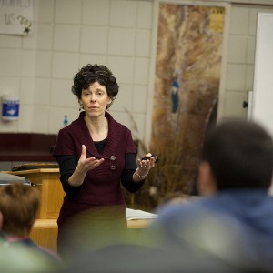 Michele Hershberger teaches Hesston College's Biblical Literature course