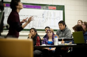Hesston College students in Bib Lit class