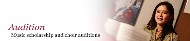 Audition: Music scholarship and choir auditions