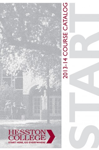 2013-14 Hesston College catalog cover