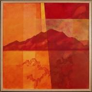 Montanha Vermelha Sagrada by Ken Gingerich, acrylic on masonite