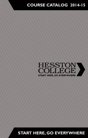 2014-15 Hesston College catalog cover