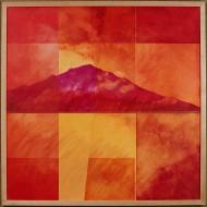 Montanha Vermelha Sagrada #2 by Ken Gingerich, acrylic on masonite