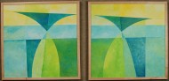 Duas Irmas do Altoplano A by Ken Gingerich, diptyck, acrylic on masonite