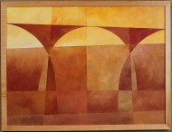 Duas Irmas do Altoplano B by Ken Gingerich, acrylic on masonite