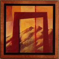 Porta as Montanhas Sagrados #6 by Ken Gingerich, acrylic on masonite