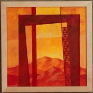 Portas as Montanhas Sagrados #5 by Ken Gingerich, acrylic on masonite