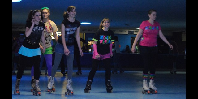 80s night at the skating rink - a Campus Activities Board event