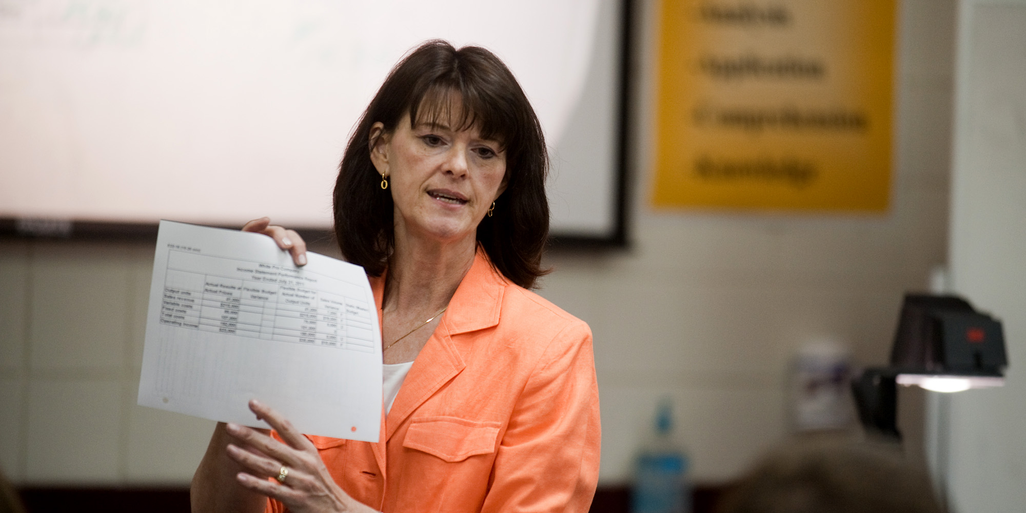 Business faculty member Vickie Andres teaches accounting.
