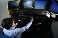 Hesston College Aviation's flight training device