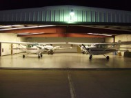 Hesston College Aviation hangar