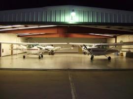 Hesston College Aviation hangar