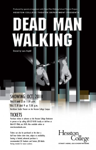 poster for Hesston College production of Dead Man Walking & Theatre department to present Dead Man Walking - Hesston College