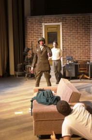 photo from Hesston College production of Moon Over Buffalo