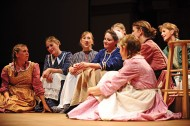 The cast of the Hesston College production of Quilters