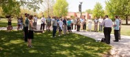 Chloe Weaver memorial tree planting at Hesston College