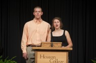 2011 Hesston College Commencement student speakers Alex Roth and Leah Rittenhouse