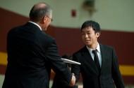 Masaki Kato receives his diploma