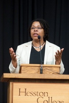 Regina Shands Stoltzfus speaks at Hesston College Commencement 2011