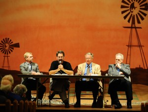 Panel members at the Hesston College Centennial history forum