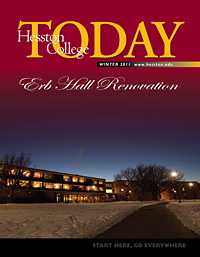 Hesston College Today spring 2011 cover