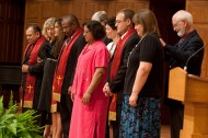 Pastoral Ministries graduates and faculty at the commissioning service