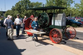 A 1909 International tractor on display