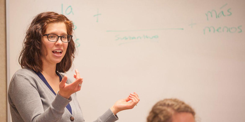 Spanish prof Kate Swartley