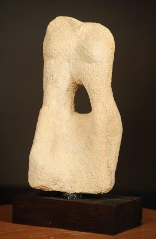 "Limstone sculpture by Lois Misegadis entitled ""Ruth."""