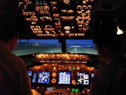 Aviation students at ATOP.