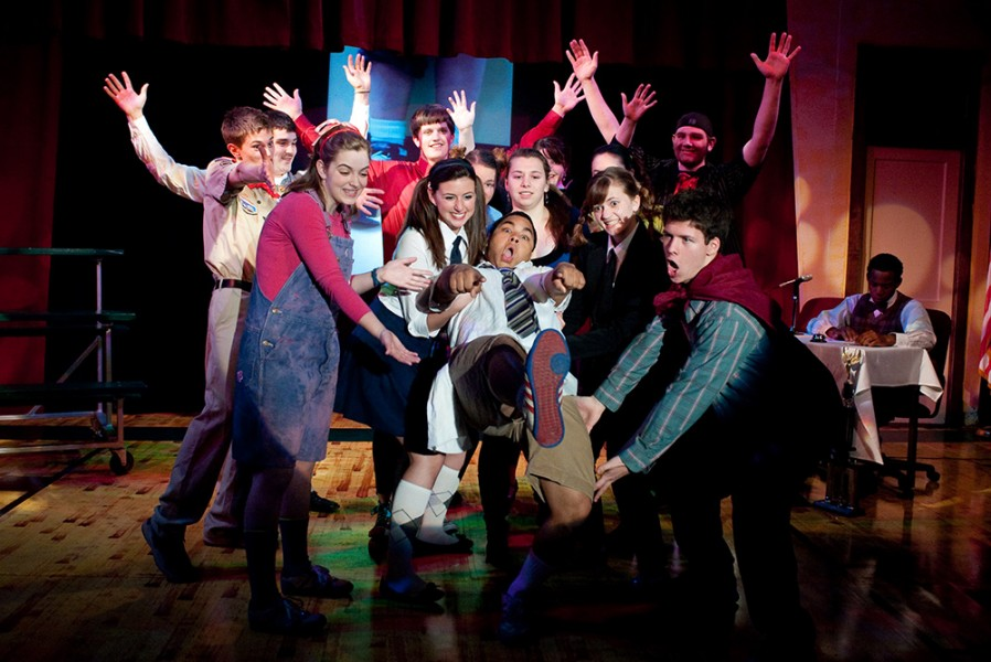 photo from Hesston College production of 25th Annual Putnam County Spelling Bee