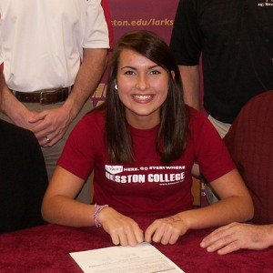 Savannah Mitchell signs to play tennis for Hesston College