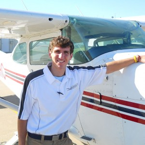 Adam Heisey, a freshman in Hesston College's aviation program, earned his private pilot license Feb. 26.
