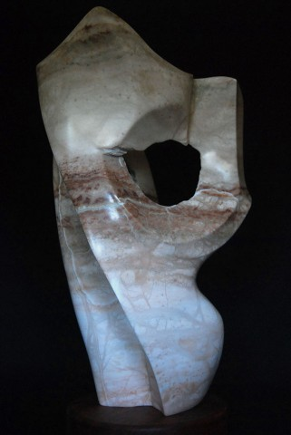 Dave Foncannon's alabaster sculptures will be on display in the Hesston College Friesen Center for the Visual Arts gallery Feb. 26 to April 13.