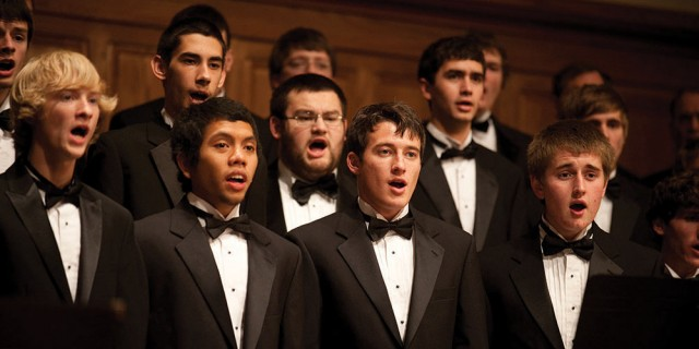 More than 80 students from the college's two  choirs and community members joined their voices  with an orchestra of local musicians to present part  one of Handel's Messiah during Thanksgiving Weekend.