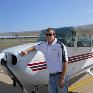 Tyler Beachy, a freshman in Hesston College's aviation program, earned his private pilot license Feb. 17.