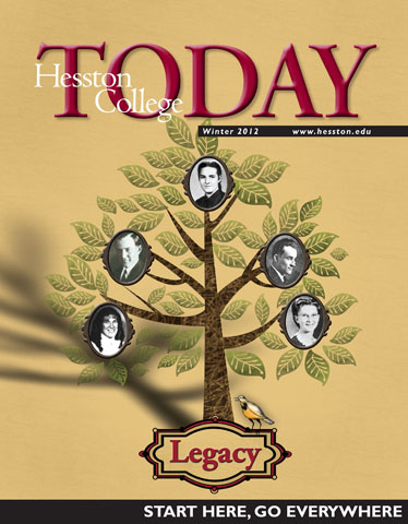 Hesston College Today Winter 2012 cover