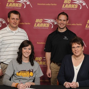 Samantha Aeschliman signs to play tennis for Hesston College.
