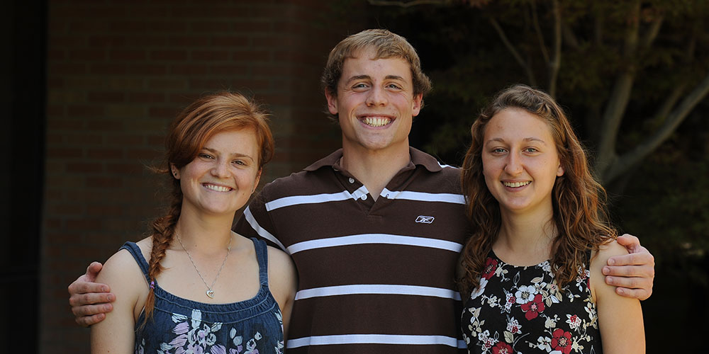 2011-12 Hesston College Athletes of the Year Emily Wagner-Davis, Pierre Zook and Krista Rittenhouse