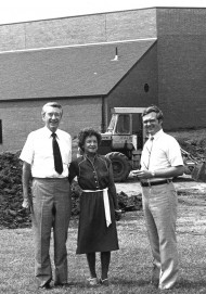 Lyle and Erma Yost with Hesston College President Kirk Alliman