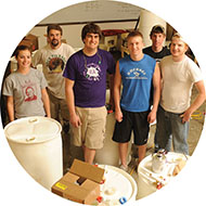 Entrepreneurship class rain barrel project